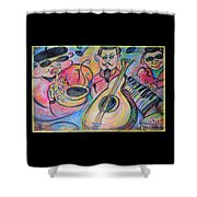 Play The Blues Shower Curtain