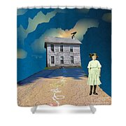 Playful Possession Shower Curtain by Desiree Paquette