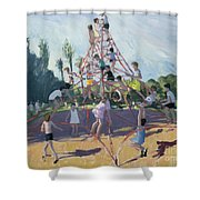 Playground Shower Curtain by Andrew Macara