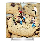 Playing Basketball On Cookies II Shower Curtain