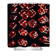 Playing Dice Being Rolled Shower Curtain