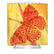 Pleasure Butterfly Shower Curtain