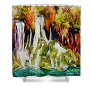 Plitvice Falls Shower Curtain