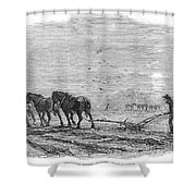 Ploughing, 1846 Shower Curtain
