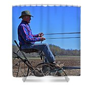 Plowing 1882 Shower Curtain