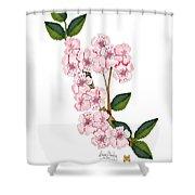 Plum Beautiful Shower Curtain