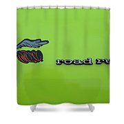 Plymoouth Road Runner In Lime Green Shower Curtain