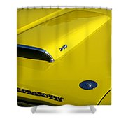 Plymouth Duster 340 Hood Scoop Shower Curtain