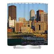 Pnc Park And River Boat Shower Curtain