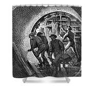 Pneumatic Transit, 1870 Shower Curtain