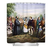 Pocahontas & John Rolfe Shower Curtain