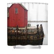 Pockport Harbor Shower Curtain