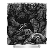 Poe: Rue Morgue, 1841 Shower Curtain