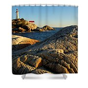 Point Atchison Lighthouse 1 Shower Curtain