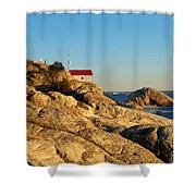 Point Atchison Lighthouse 2 Shower Curtain