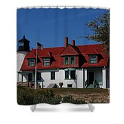 Point Betsie Light Station Shower Curtain