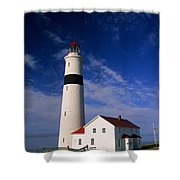 Point Lamour Lighthouse Shower Curtain