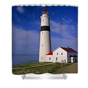 Point Lamour Lighthouse Overlooking Shower Curtain