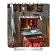 Point Loma Lighthouse Writing Desk Shower Curtain