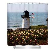 Point Montara Lighthouse Vista Shower Curtain