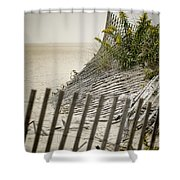 Point Pleasant Beach Shower Curtain by Heather Applegate