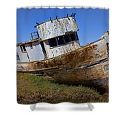 Point Reyes Beached Boat Shower Curtain