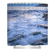 Point Shirley Surf Shower Curtain