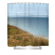 Point To The Polar Bear Shower Curtain