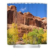 Poison Spider Mesa In The Fall Shower Curtain by Gary Whitton