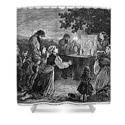 Poland: Cholera, 1873 Shower Curtain