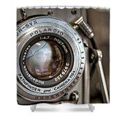 Polaroid Pathfinder Shower Curtain by Scott Norris