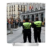 Policia Madrid Shower Curtain