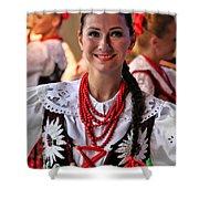 Polish Folk Dancing Girl Shower Curtain