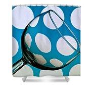 Polka Dot Glass Shower Curtain