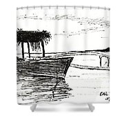 Polynesian Outrigger Shower Curtain