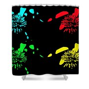 Pom Pom Pop Art Shower Curtain