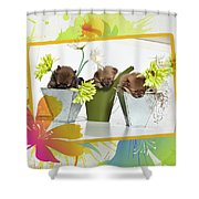 Pomeranian 4 Shower Curtain by Everet Regal