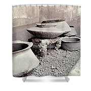 Pompeii: Cooking Pots Shower Curtain