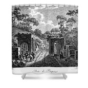 Pompeii: Herculaneum Gate Shower Curtain