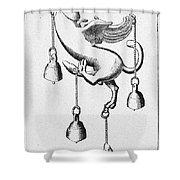 Pompeii: Phallic Bronze Shower Curtain