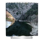 Pond Dark Ardeche France Shower Curtain