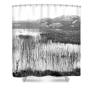 Pond In Tha North Of Ireland Shower Curtain