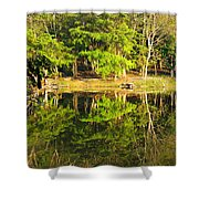 Pond Reflection Guatemala Shower Curtain