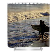 Ponquogue Surfers Shower Curtain