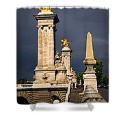 Pont Alexander IIi In Paris Before Storm Shower Curtain by Elena Elisseeva