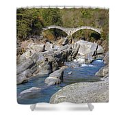 Ponte Dei Salti - Lavertezzo Shower Curtain