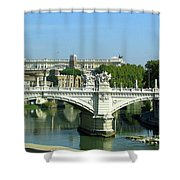 Ponte Sant'angelo In Rome Shower Curtain