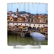 Ponte Vecchio From Uffizi Shower Curtain