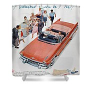 Pontiac Advertisement 1957 Shower Curtain