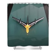 Pontiac Hood Ornament Lit Shower Curtain